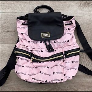 Betsey Johnson baby pink black backpack 🎒